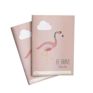 🚚 Be Brave Flamingo Notebook x 2