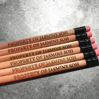 Personalized 2B Pencils - 'Property Of'