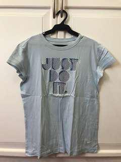 NIKE Light Blue Just Do It Shirt