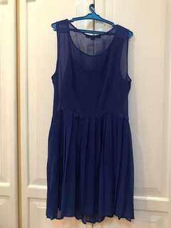 FOREVER 21 blue party dress