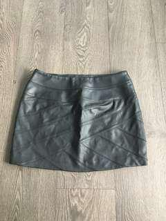 Express Leather Look Skirt Size 2 Small