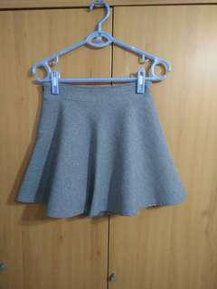 🚚 兩件免運。百搭高腰西裝灰色超質感安全褲短裙a字裙