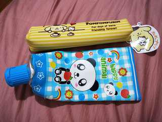 pompompurin and toothpaste pencil case