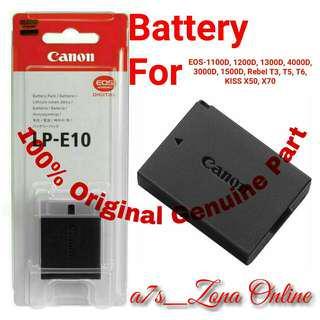 Baterai/Battery Canon LP-E10 Original