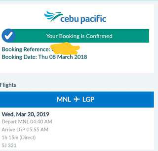 Airfare ticket for 3 MNL-LZPI