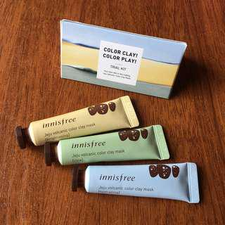 Innisfree Colour Clay Mask Trial Set