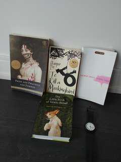 A bundle of books
