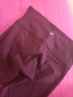 Lululemon burgundy tights