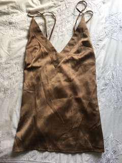 Missguided Brown/Gold Cami