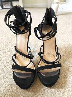 strap up high heels - size 8