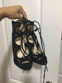 Missguided lace up heels