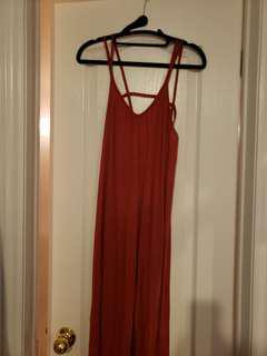 BNWOT RVCA Caged Back Maxi Dress