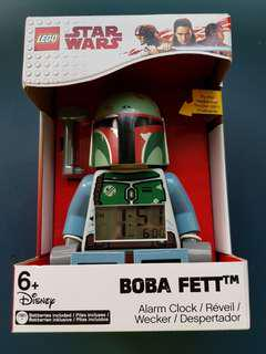 LEGO Star Wars Boba Fett Kid's Minifigure Light Up Alarm Clock