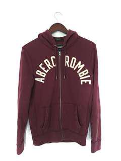 Abercrombie & Fitch Zip Hoodie (Muscle Fit, Burgundy)