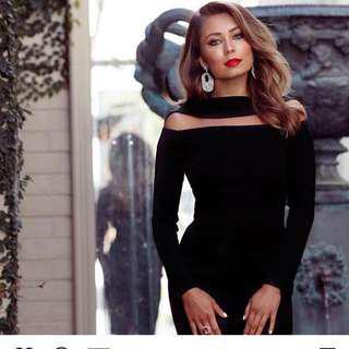 Bianca and Bridgett black dress size 6