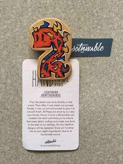 Handmade Lightning Adaptasaurus Pin