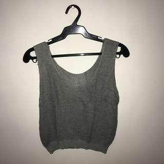 Gray Sleeveless