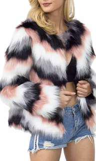 4 tone soft faux fur coat 🌸