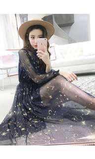 Sheer glitter star dress
