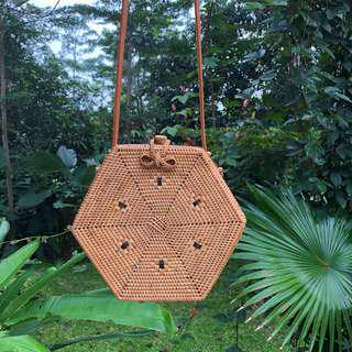 Hexagon Rattan Bag from Bali