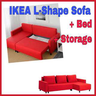IKEA Sofabed+Floor Lamp+Lack Table (RM700 only)