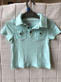 Old Navy mint green polo shirt (12-18M)