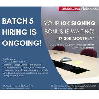Become an Office-based tutor and get 10k signing bonus