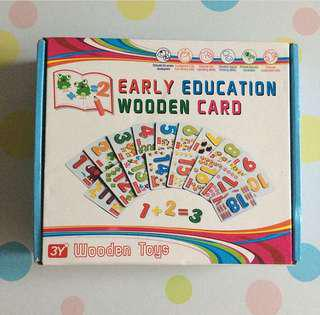 Numbers Early Education Wooden Card