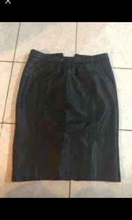 TRENERY /COUNTRY ROAD BLACK LEATHER SKIRT