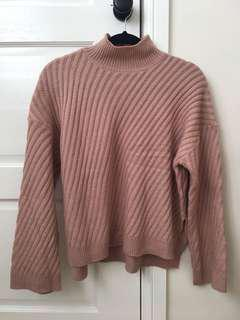Oversized Diagonal Knit Sweater