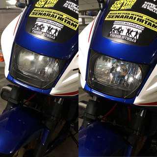 CB400 headlight restore