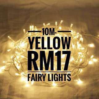 10M WARM WHITE/YELLOW FAIRY LIGHT