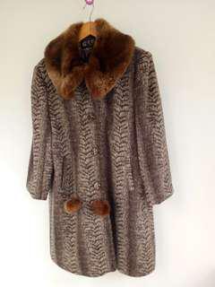 毛領風衣外套