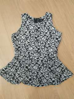 Peplum Flower Cute