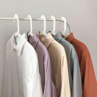 🚚 彩色盤早秋質感襯衫