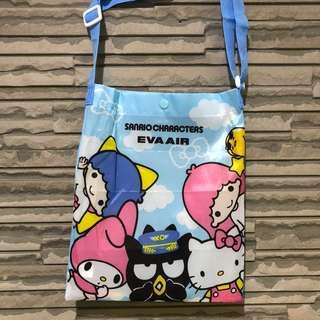Hello Kitty 蛋黃哥 美樂蒂 酷企鵝 三麗鷗 環保購物袋 親子遊戲 長榮航空彩繪機
