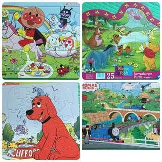 幼兒砌圖(大塊)全部$50 Large piece puzzle $50 for all