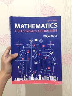 Mathematics for Economics and Business 8ed PEARSON