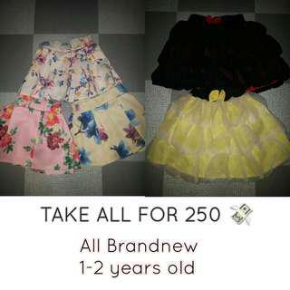 Take all baby girl skirts