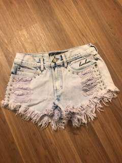 Bambam high waisted denim shorts size 8