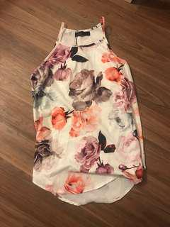 Brand new workwear floral halter top size 6