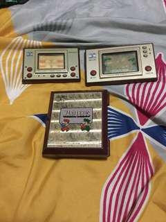 Vintage Nintendo game watch parts Lot not working