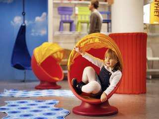 Ikea Swivel Chair ( Orange)