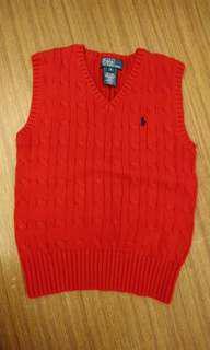 🚚 Polo 紅色針織背心