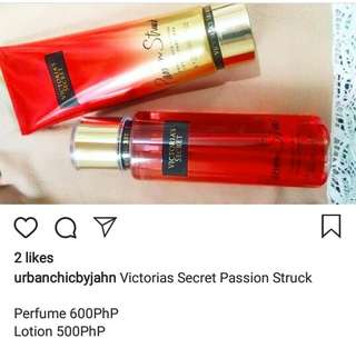 VS passion struck 1000 for both lotion and perfume