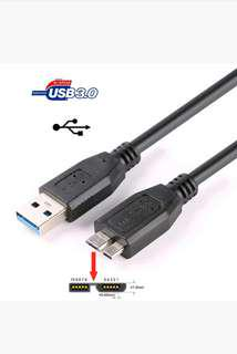 New Original Seagate External Data Sync Cable USB 3.0 To Micro B 45 cm for portable hard drive disk