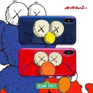 🚚 Kaws x Sesame Street soft tpu iPhone X phone case