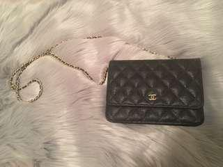 Black Quilted Vintage Chanel Bag Purse