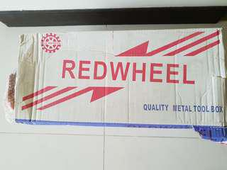 Redwheel metal tool box