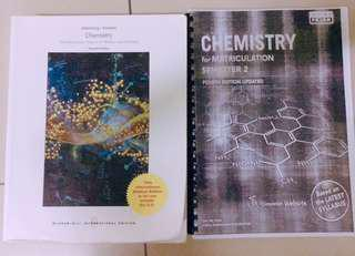 Matriculations Chemistry textbook ( Chemistry The Molecular of Nature and Change )